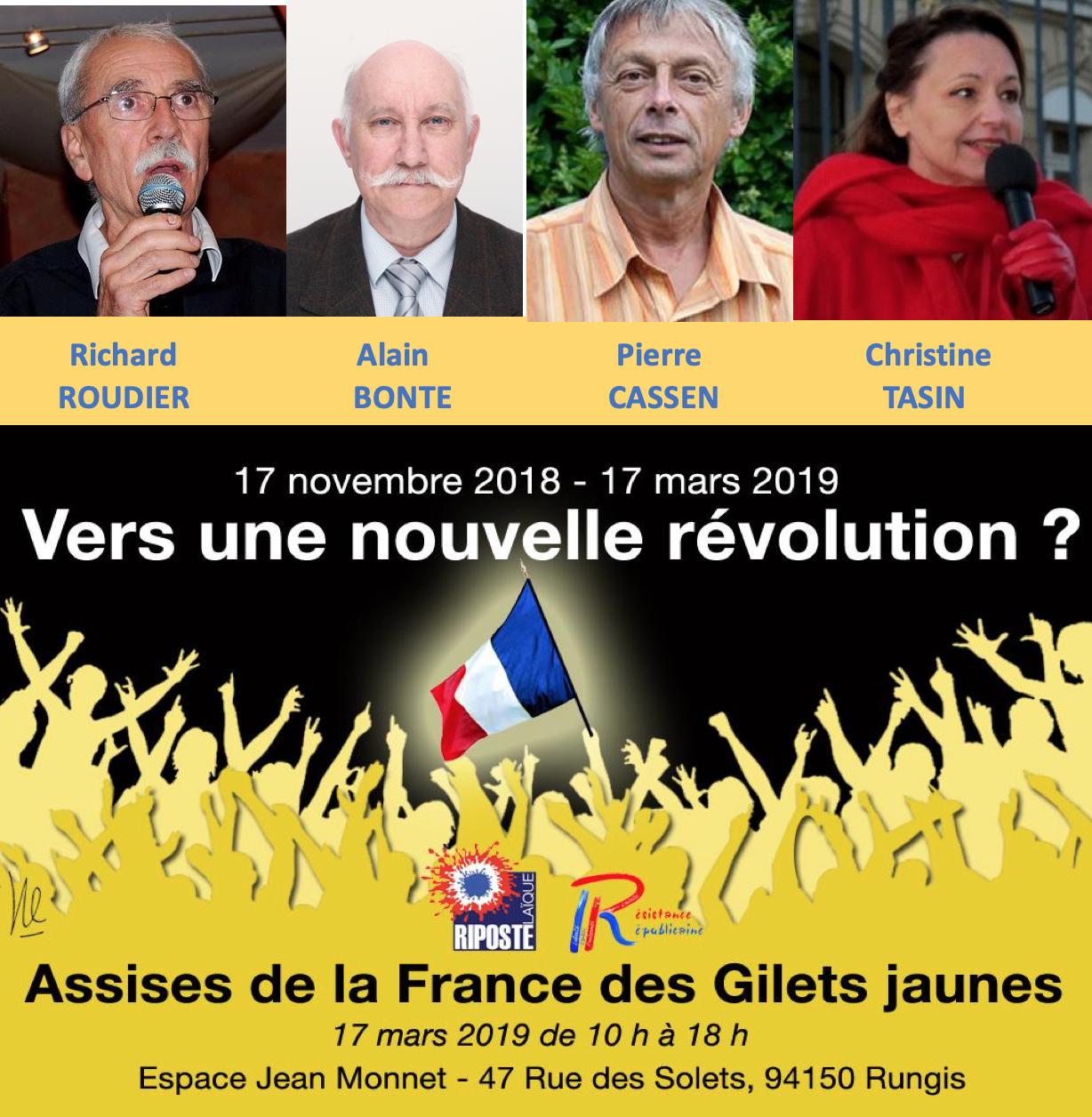 Le Major Alain Bonte et Richard Roudier prendront aussi la parole aux Assises du 17 mars