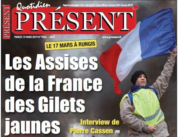 Présent fait sa page une sur les Assises de la France des Gilets jaunes
