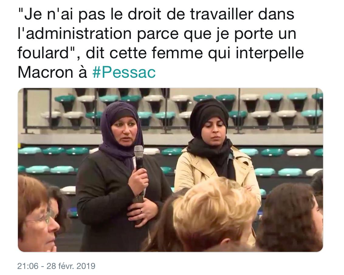 A Pessac, Mohamed Macron  sépare les hommes des femmes et rassure les voilées