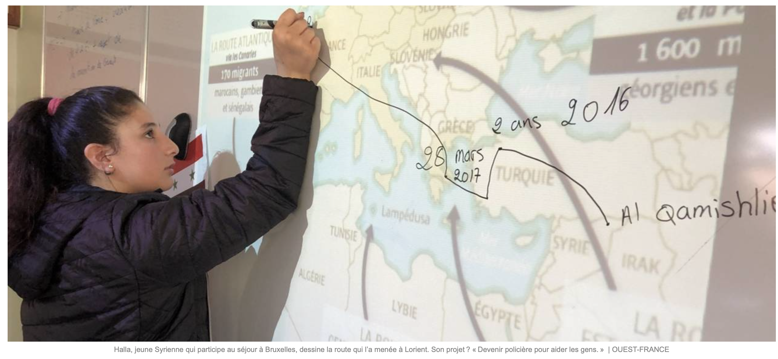 Ah ! Ils ont bien appris à Halla, la jeune «migrante» syrienne, comment faire pleurer dans les chaumières