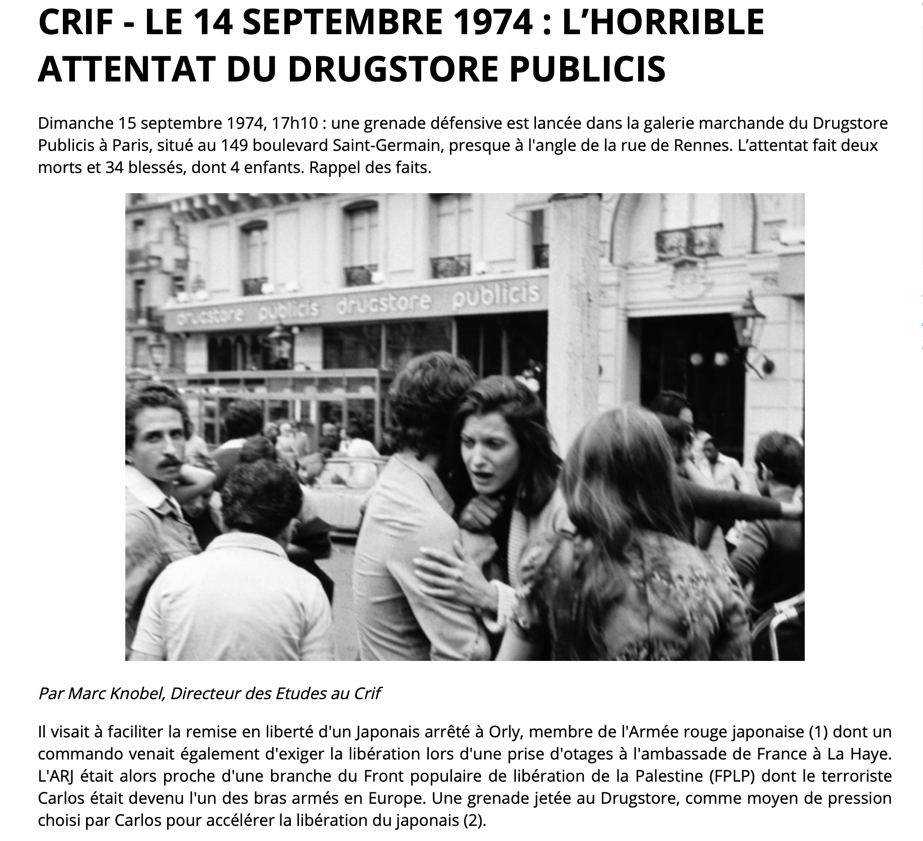 Un décret de Macron fait remonter le début du terrorisme donnant lieu à médaille à 1974… Pourquoi ?