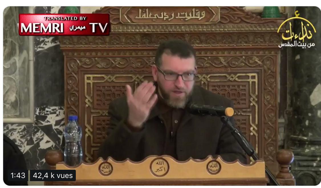 Selon le Cheikh palestinien de la mosquée Al-Aqsa, la France deviendra un pays islamique grâce au djihad