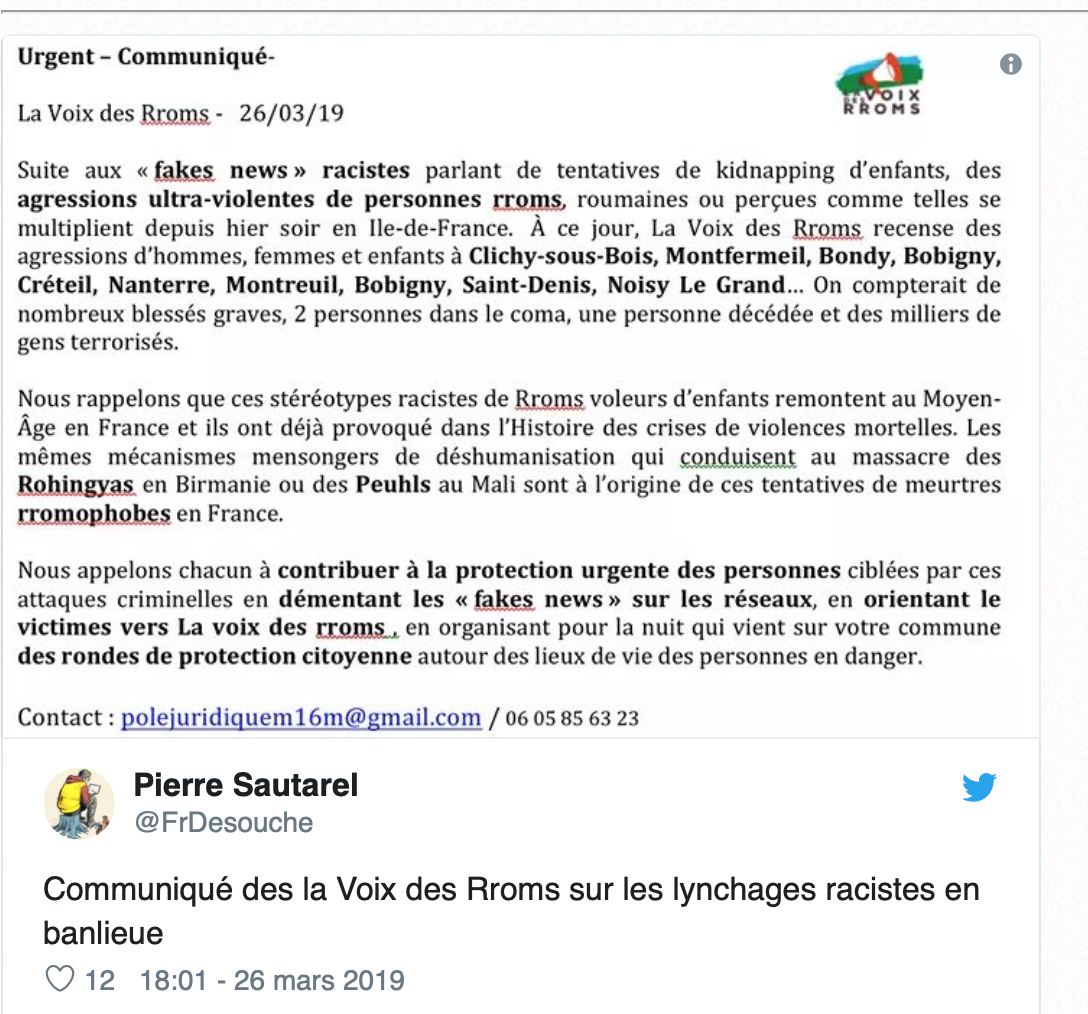 Partition en Seine-Saint-Denis : les musulmans persécutent les Roms, demain ce sera nous…