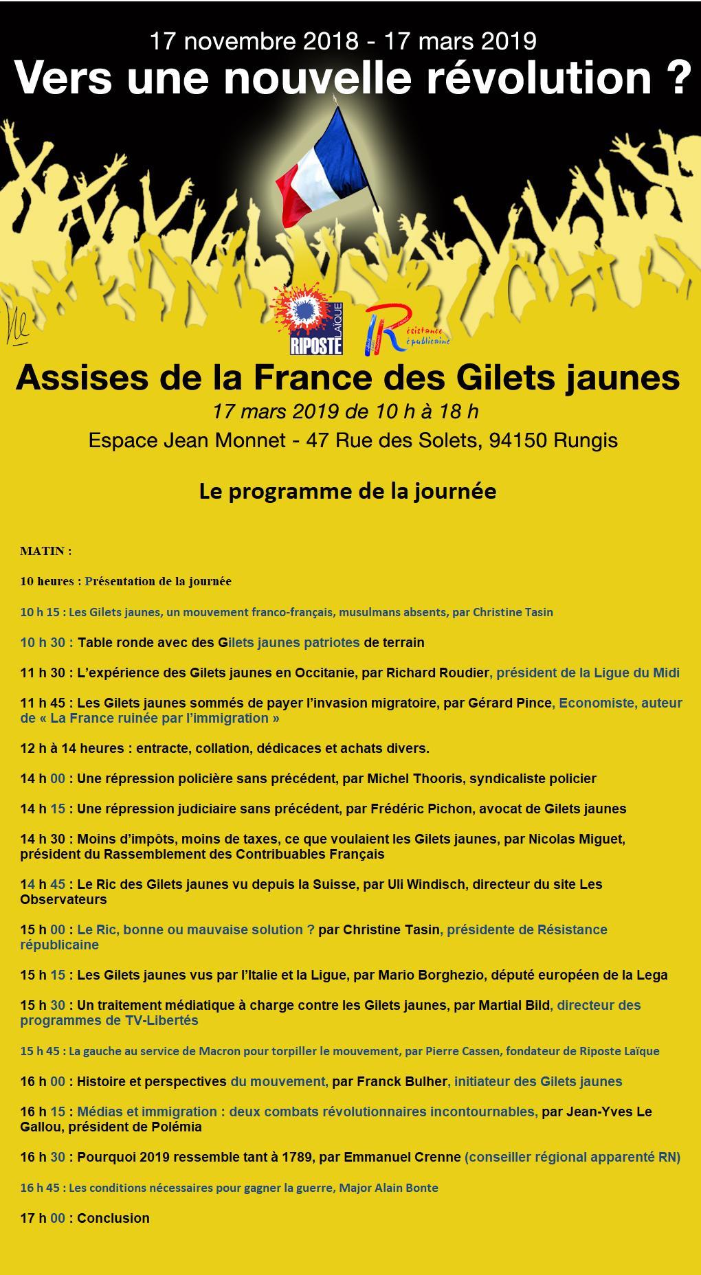 17 mars, Rungis : l'avenir des Gilets jaunes ne peut qu'être patriote…