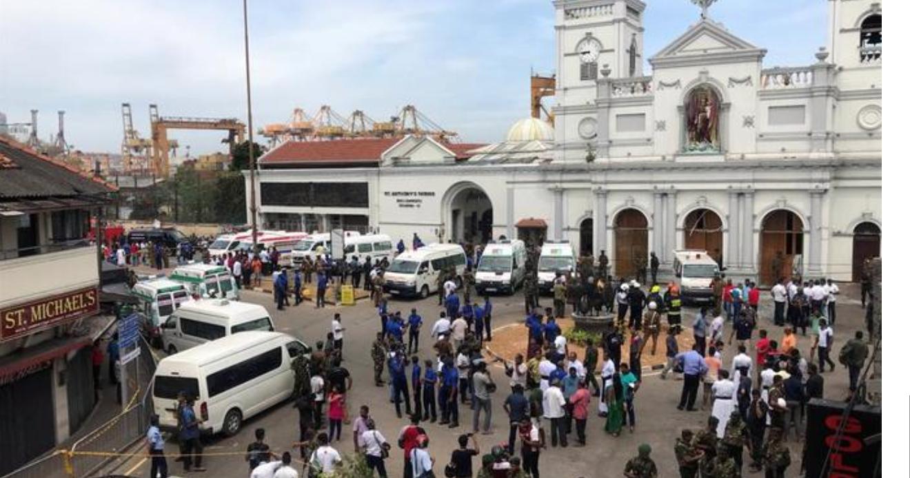 Messes de Pâques sanglantes au Sri Lanka :  3 églises et 3 hôtels visés, 42 morts, 280 blessés