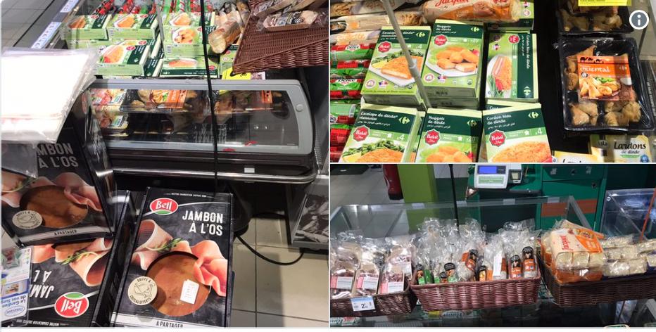 Sacrilège ! Carrefour market a mis le halal à côté du porc, salauds de Gaulois !