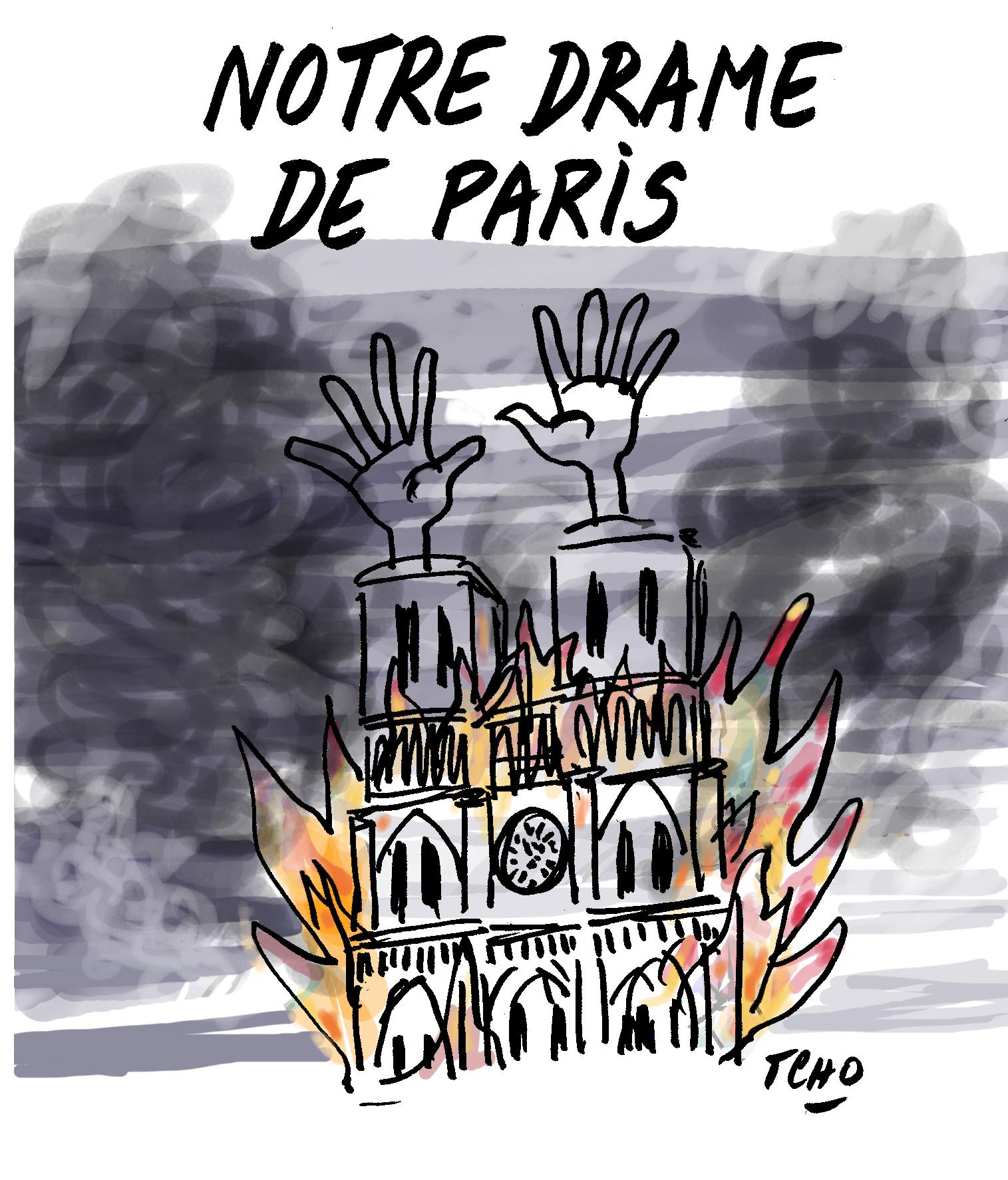L'incendie de Notre-Dame déclenché par une étincelle d'engin de chantier ? Questions d'un naïf