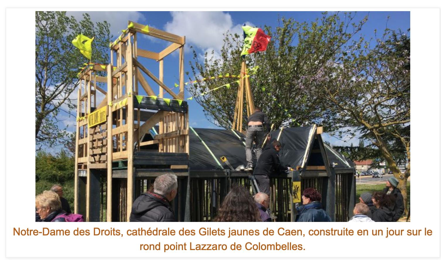«Notre-Dame des Droits» à Caen : les vrais GJ font un bras d'honneur à Macron et reprennent la lutte