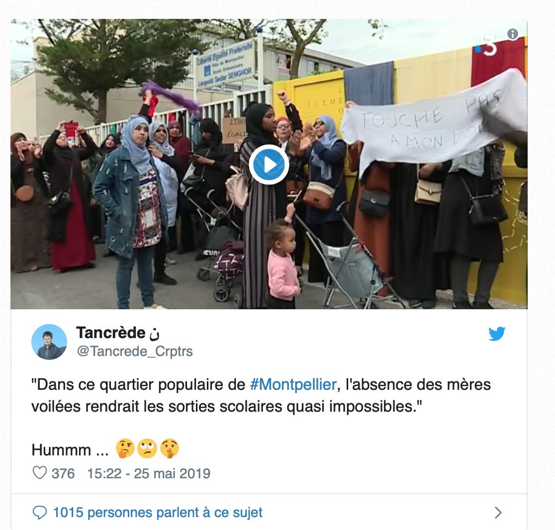 Montpellier : pas de sortie scolaire si le voile est interdit? Et alors ? La belle affaire !