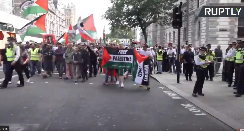 En direct, à Londres gigantesque manifestation pour que Jérusalem soit palestinienne !
