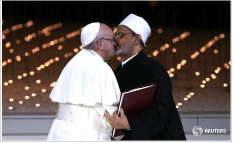 L'imam embrassé par le pape : » oui, oui, on peut frapper sa femme «