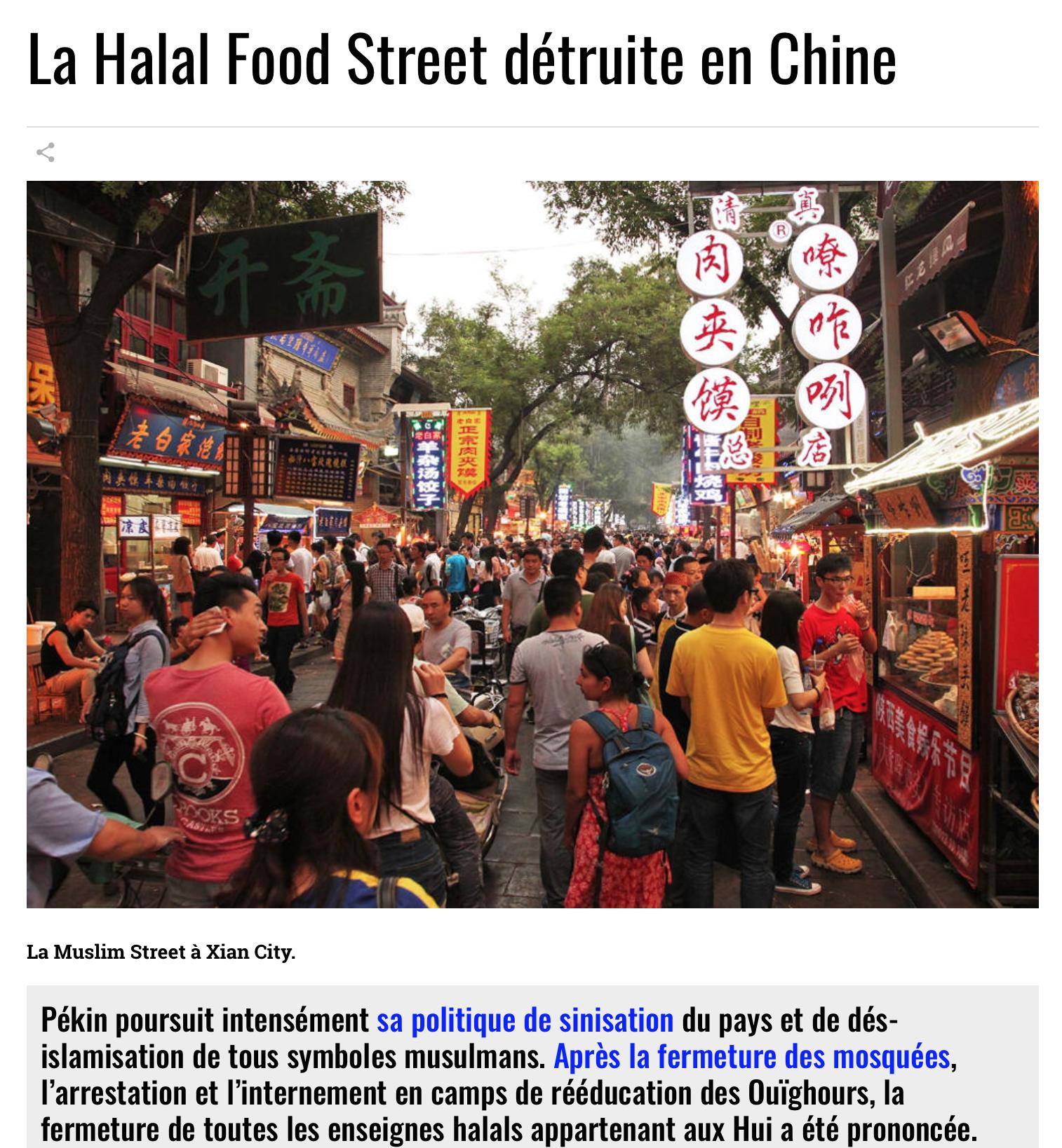 La Chine s'est éveillée, les musulmans tremblent : destruction des restaurants halal !