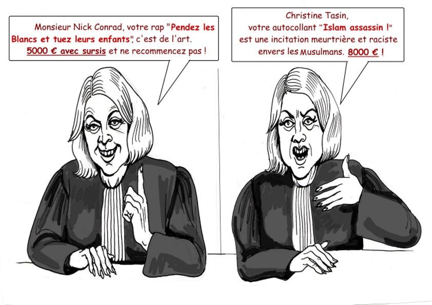Nick Conrad blanchi, Christine Tasin condamnée : si ce n'est pas du racisme…