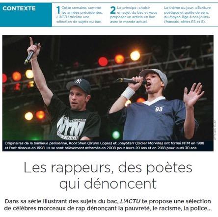 Geo Actu rend hommage à la poésie des rappeurs qui dénoncent pauvreté, racisme et police…