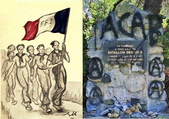 «Fuck France», » la frontière tue»: Monument aux Maquisards et Chapelle d'alpage vandalisés par des antifas