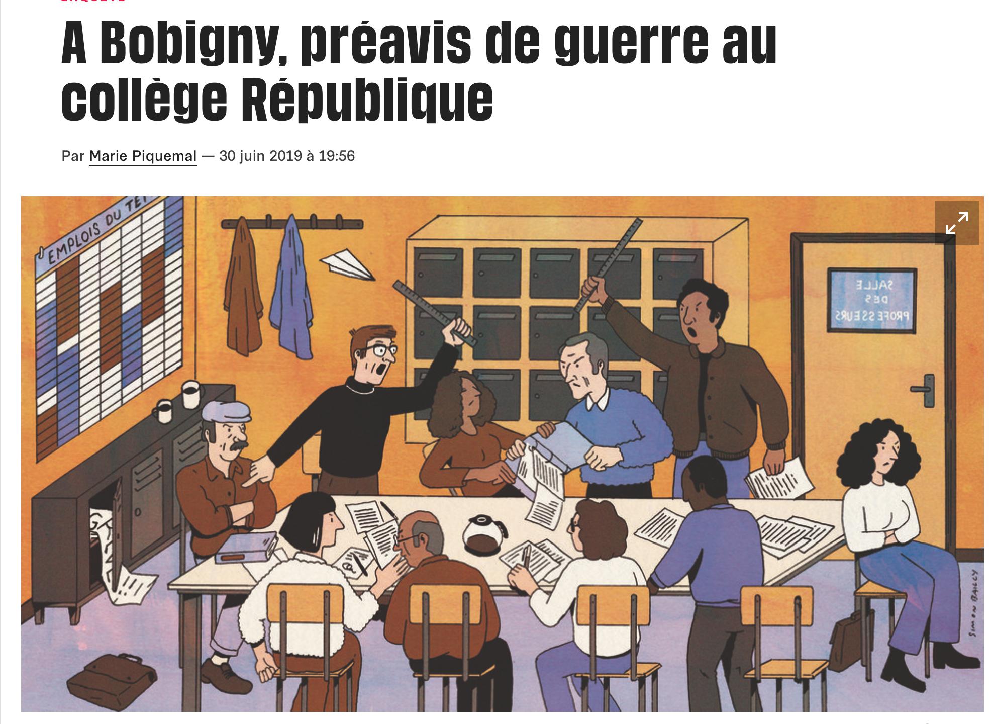 Collège République de Bobigny : le prof écrit au tableau  «vous êtes des porcs sans avenir» et s'excuse
