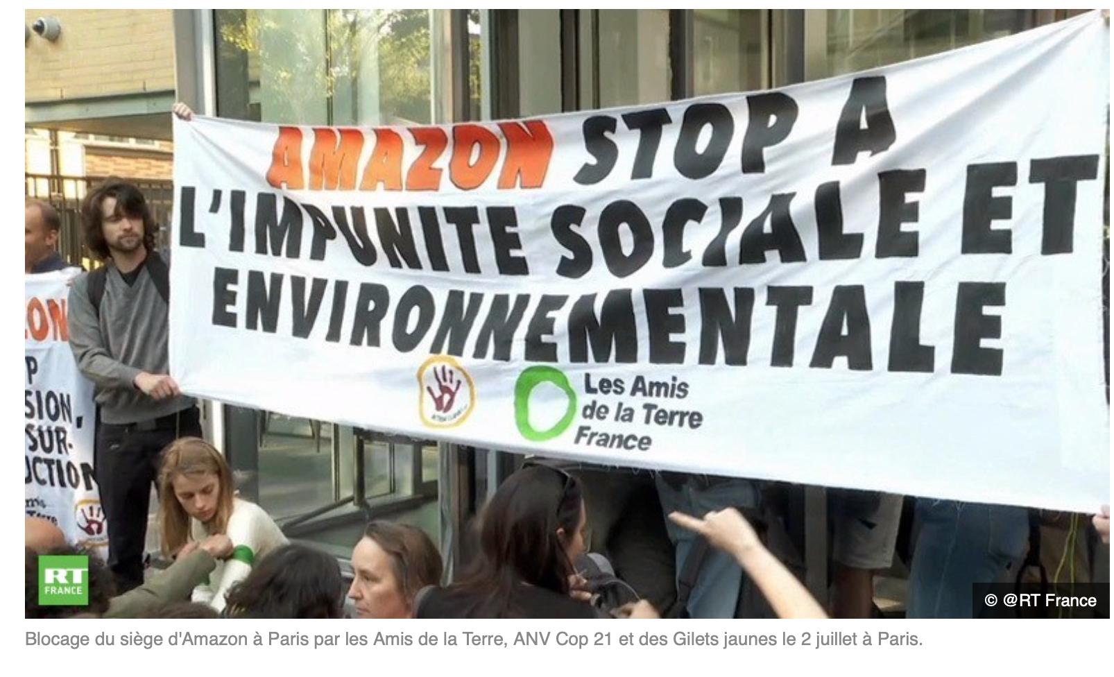Ces connards d'écolos qui bloquent Amazon et qui votent Macron…