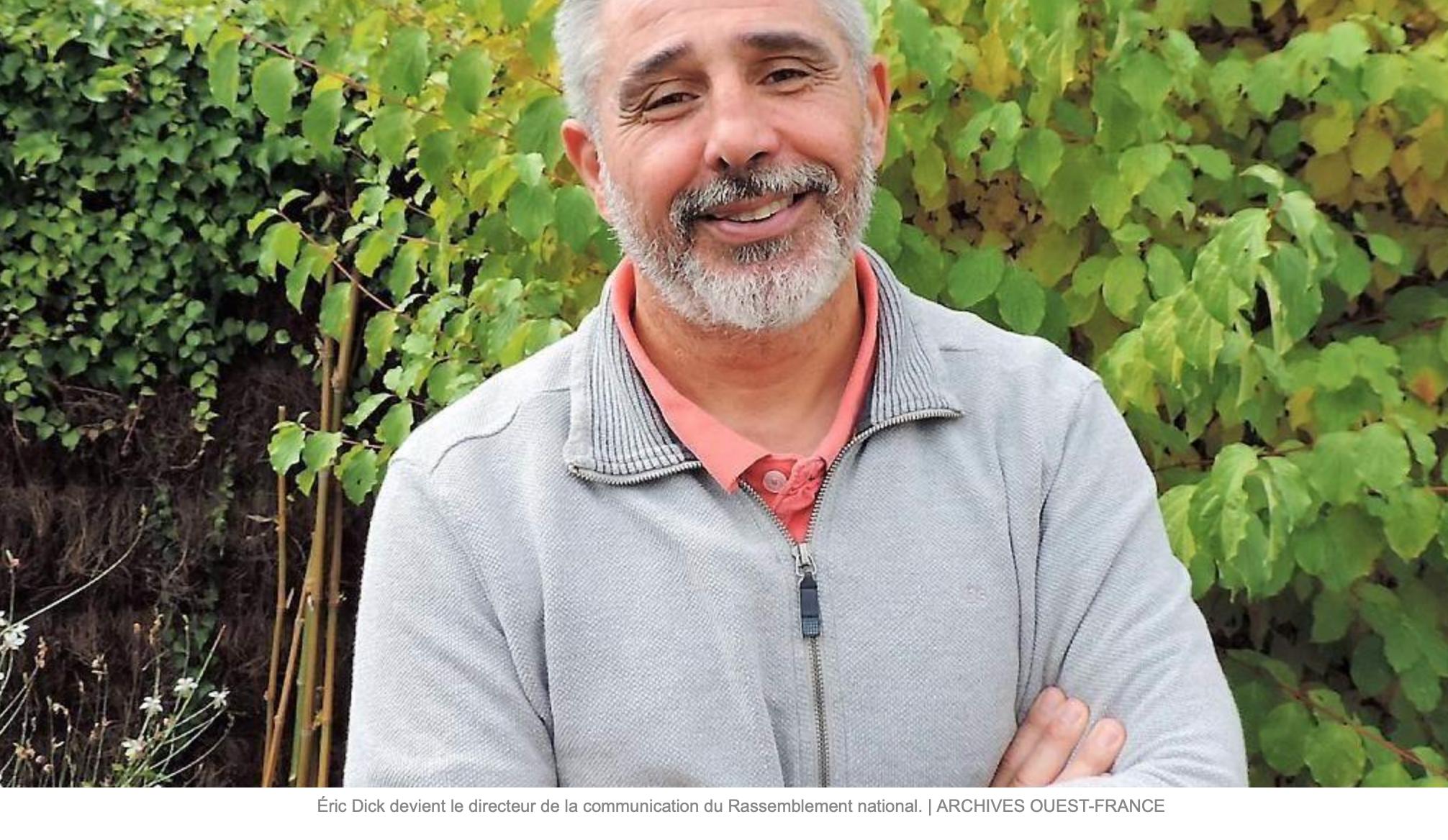 Bravo au RN qui prend l'anti-halal/anti-immigration Eric Dick comme directeur de communication