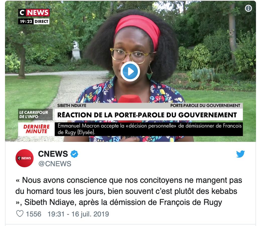 Macron-N'Diaye veulent même nous imposer de renoncer au jambon-beurre au profit du kebab halal !