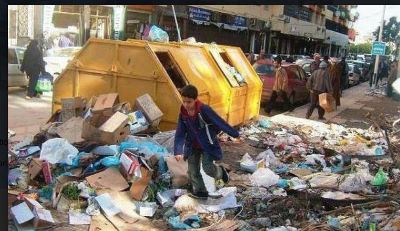 Algériens, il faut en finir avec ce problème de saleté qui vous gangrène et vous humilie