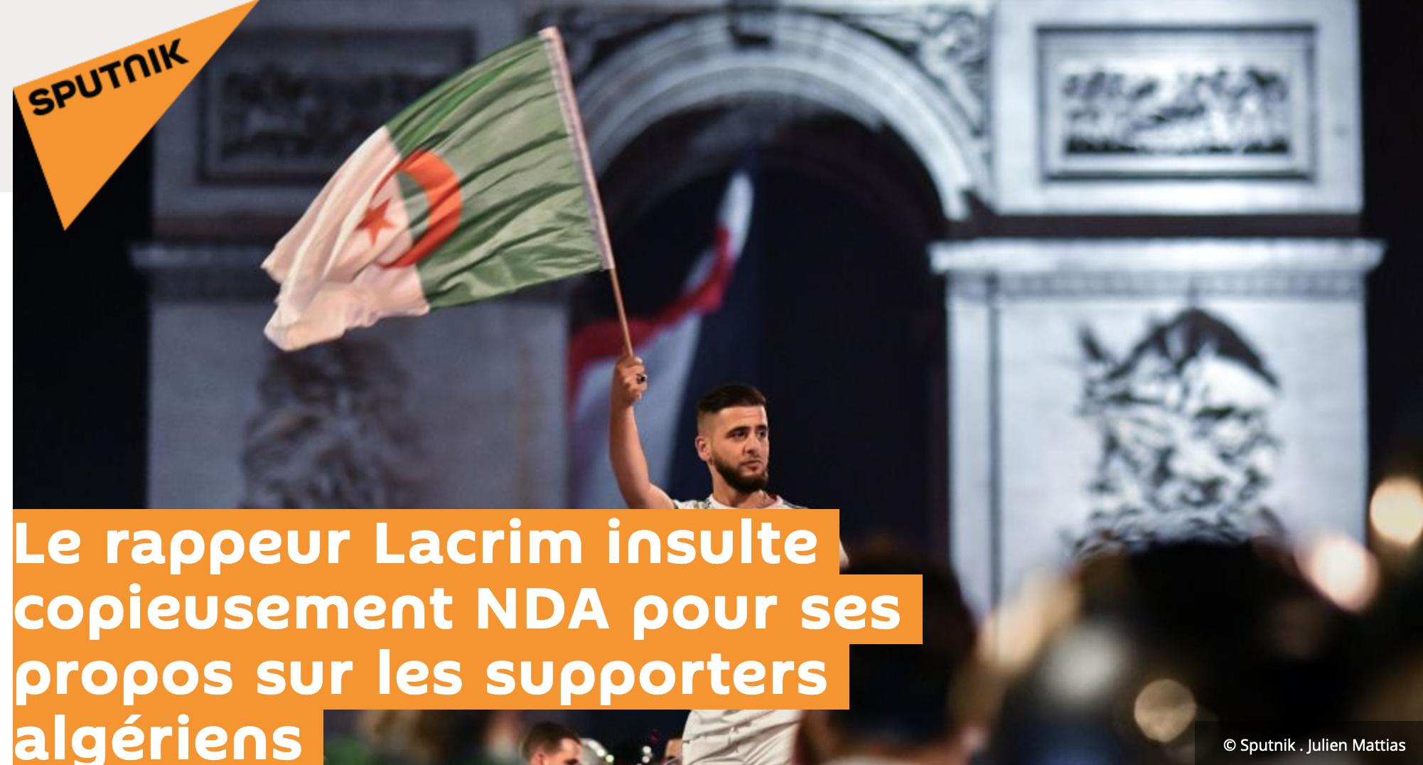 Macron, il attend quoi pour expulser le rappeur algérien Lacrim qui traite NDA de fils de pute ?