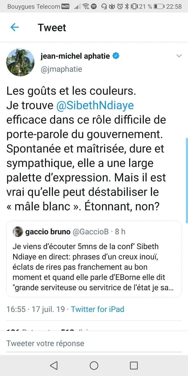 Incroyable tweet d'Aphatie sur N'Diaye : il veut se faire inviter à une soirée homard à l'Elysée ?