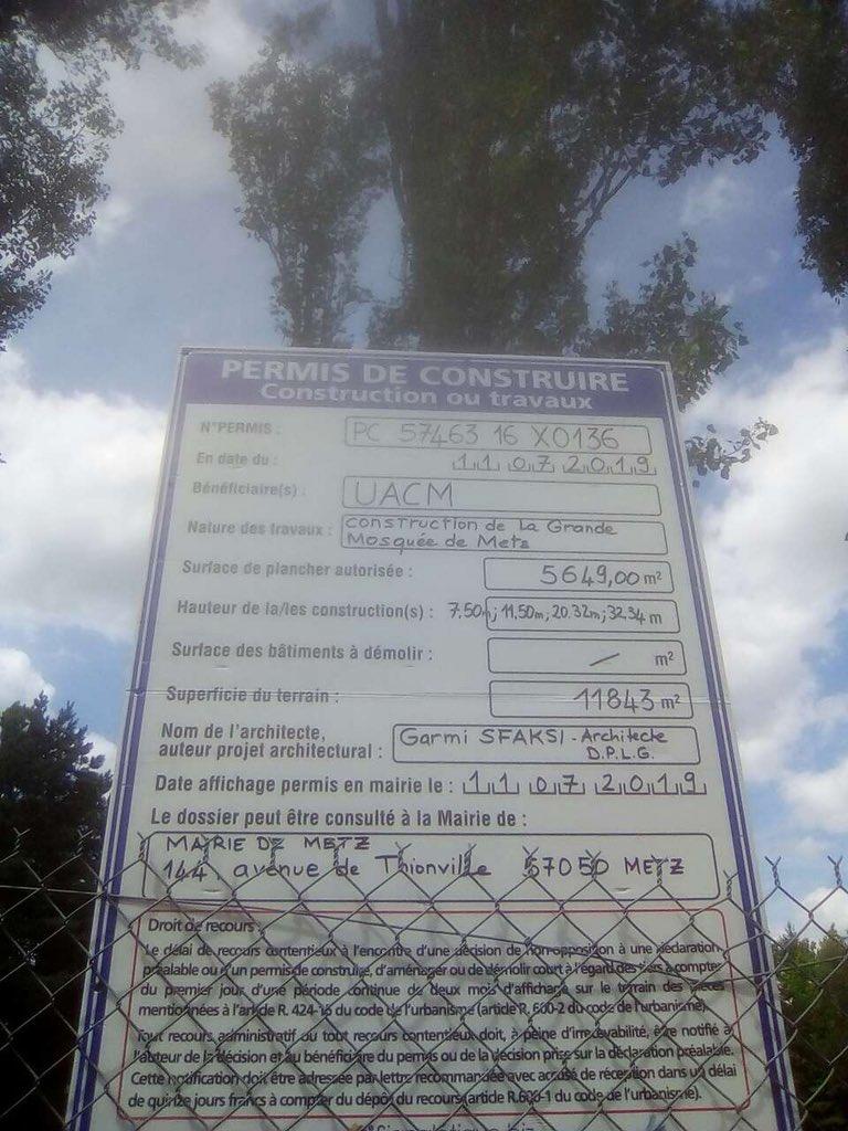 Mosquée de Metz : la France finance les musulmans mais pas les bouddhistesqui n'embêtent personne…
