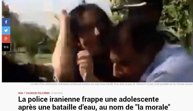 Asile politique immédiat pour la jeune fille frappée à Téhéran ! Les pro-charia en France : à vos valises !