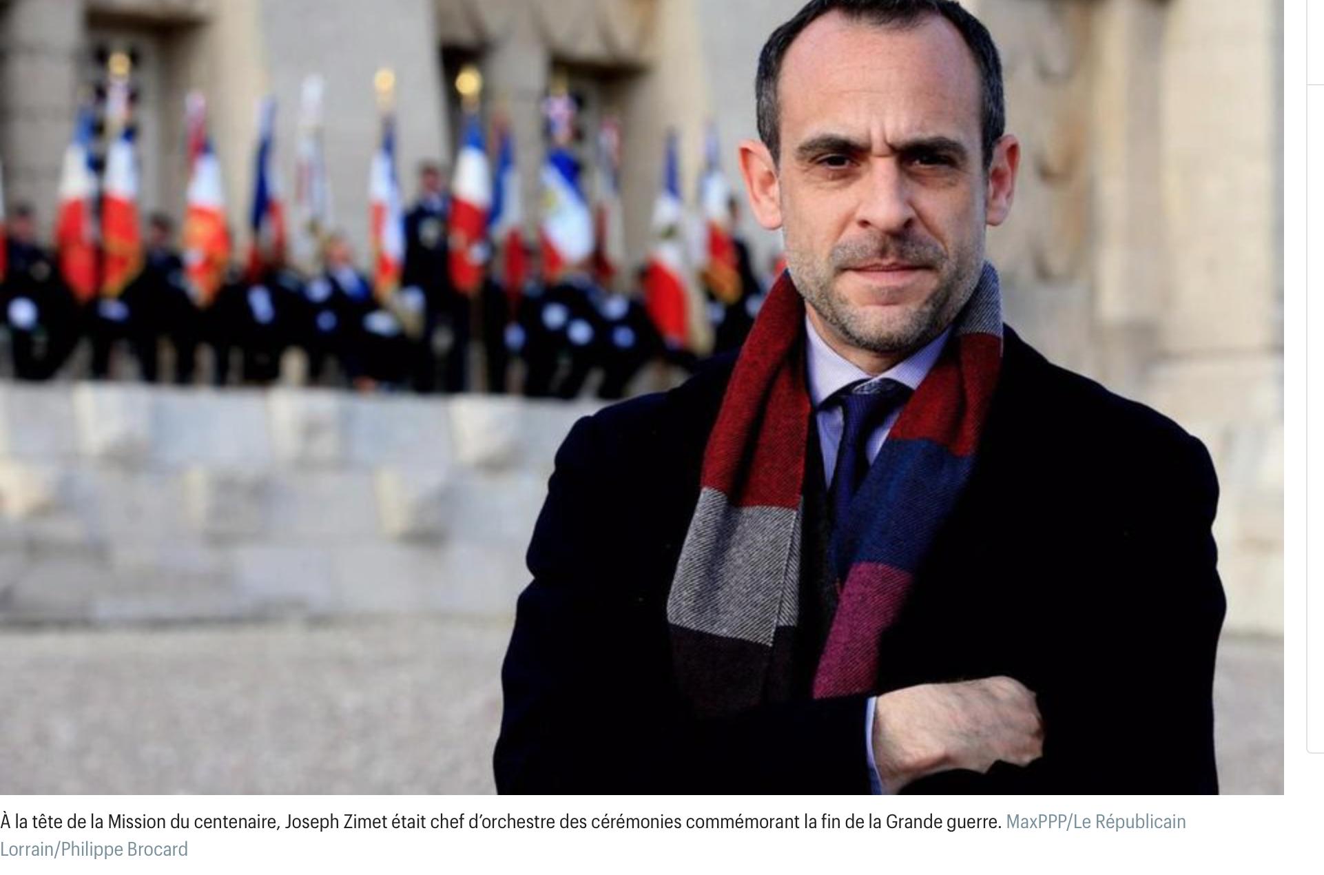 Com de l'Elysée ? Macron choisit Joseph Zimet qui a organisé les courses sur les tombes de nos poilus !
