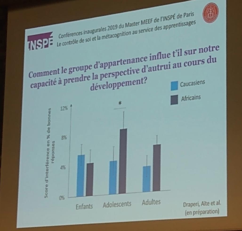 A Paris, on forme les profs à voir les différences de capacité entre Caucasiens et Africains…