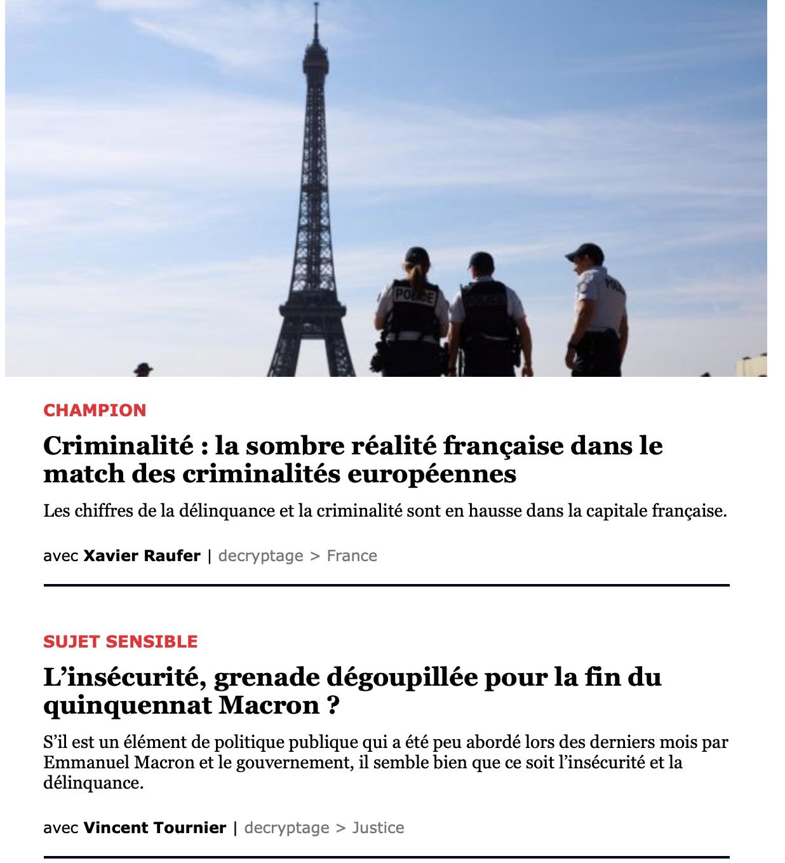L'insécurité, grenade dégoupillée pour la fin du quinquennat Macron ?