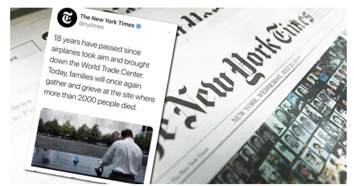 Comble de la dhimmitude : pour le New York Times, ce sont des avions qui ont perpétré les attentats du 11/09