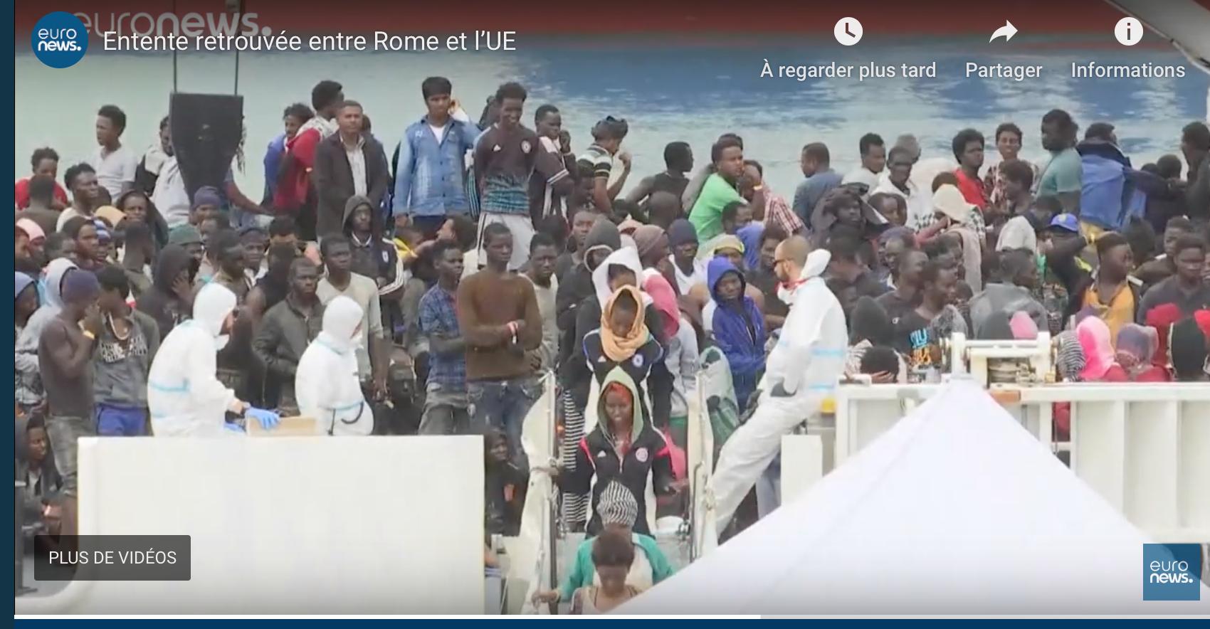Italie : des migrants en échange de l'argent européen ? La brebis égarée Conte dans l'antre de la bête