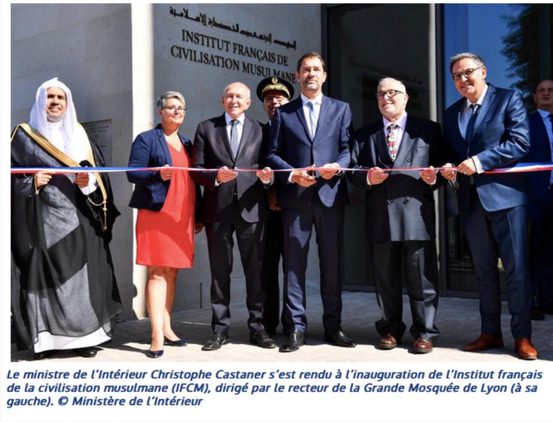 Christophe Castaner inaugure un institut musulman avec le chef de la Ligue islamique mondiale (salafiste)