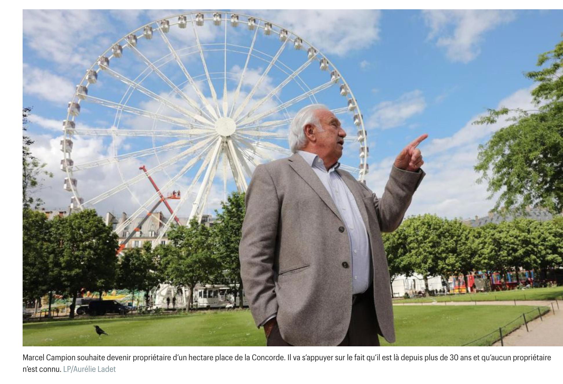 Le roi des forains Marcel Campion bientôt propriétaire d'un hectare place de la Concorde ?
