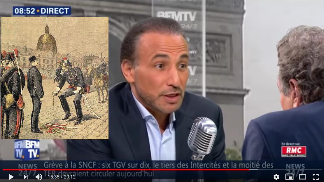 Face à Bourdin, Tarik Ramadan se compare au capitaine Dreyfus
