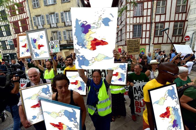 Irlande : 1500 Gilets Jaunes manifestent contre l'invasion africano-musulmane d'un petit village