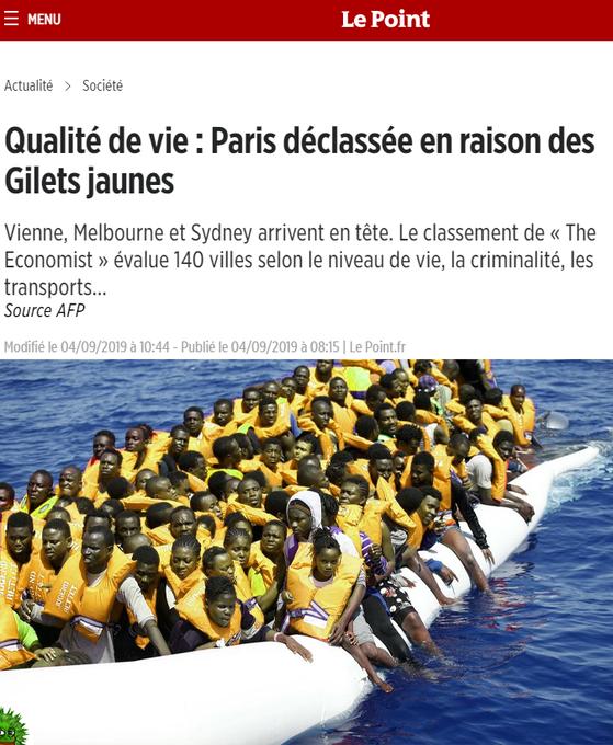 Paris chute dans le classement des villes les plus agréables : c'est la faute des Gilets jaunes