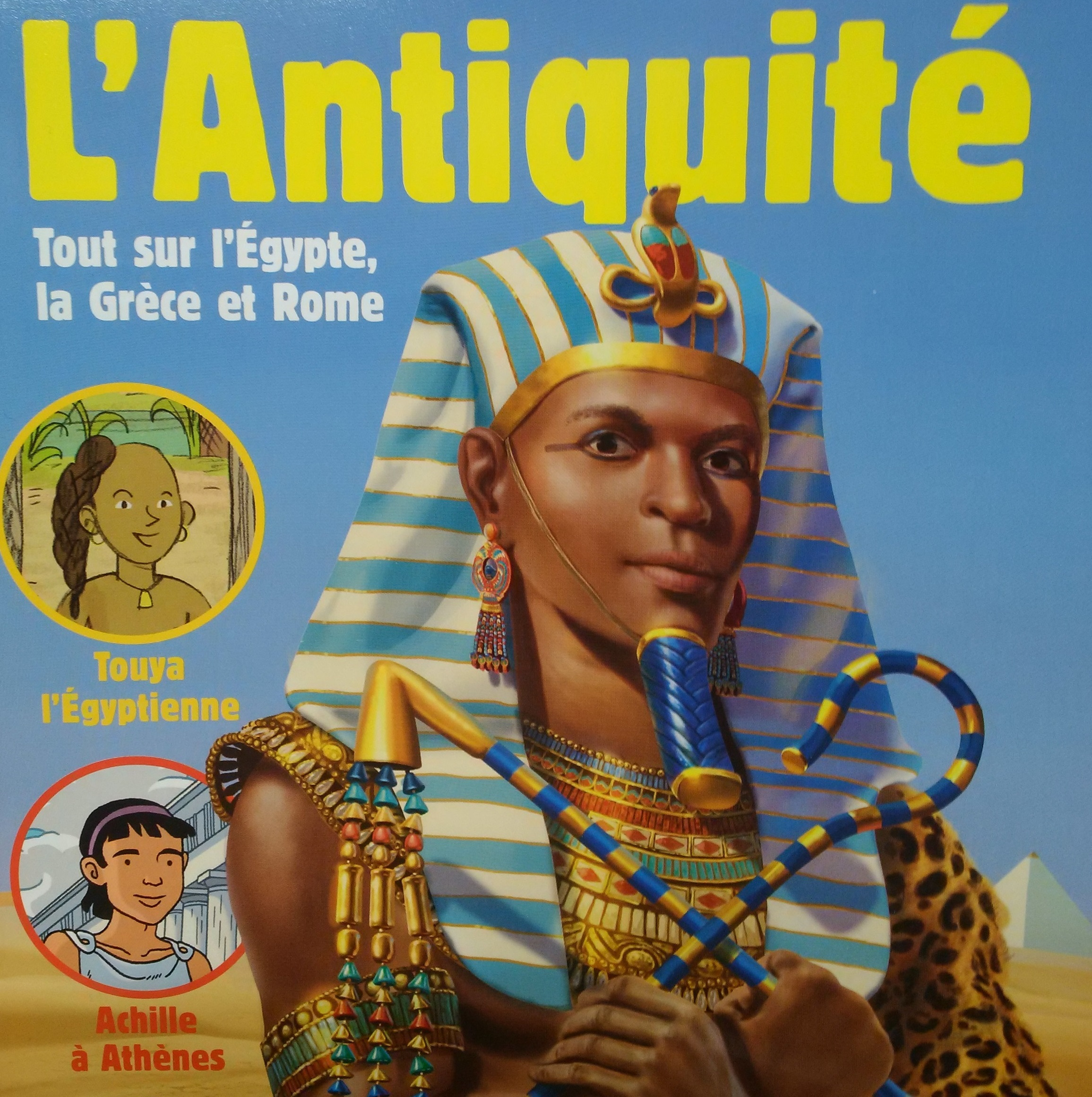 Bayard Presse choisit un pharaon noir pour illustrer l'histoire de l'Égypte antique