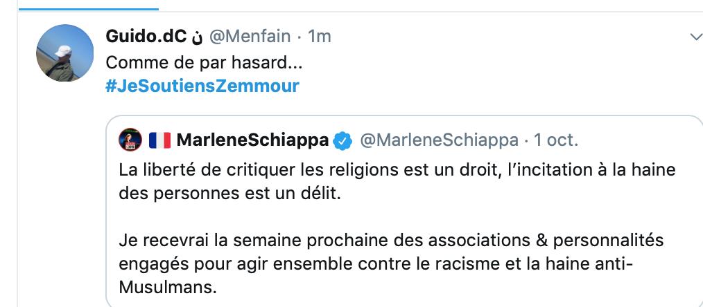 Schiappa prête à restaurer le délit de blasphème pour l'amour  des musulmans malmenés par Zemmour