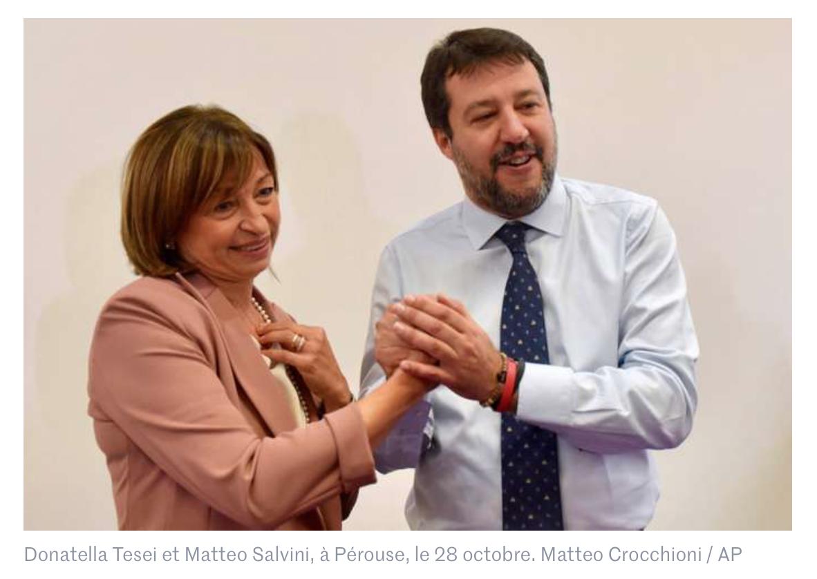 Italie : raz-de-marée pro Salvini en Ombrie, bastion de la gauche, aux élections régionales