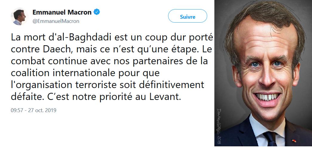 Mort de Baghdadi : heureusement que Macron était là !