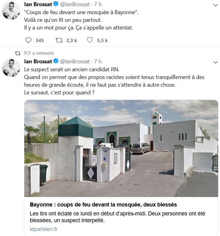 Préfecture de police de Paris – mosquée de Bayonne : l'indignation à géométrie variable de la gauche