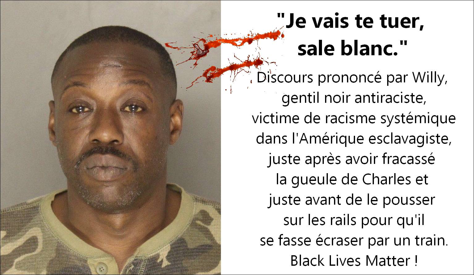«Le racisme anti-blancs n'existe pas» : Willy tabasse Charles…