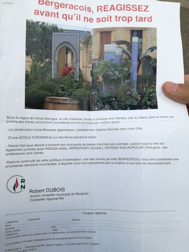 Bergerac: le RN dénonce «l'islamisation» de la ville, le candidat Adib Benfeddoul  porte plainte