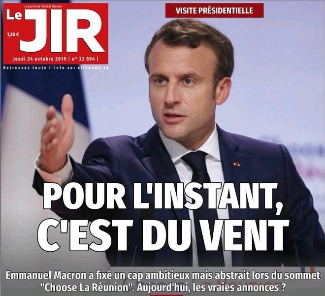 La Réunion, les journalistes écrivent «Macron c'est du vent», punis par Macron, interdits de reportage !