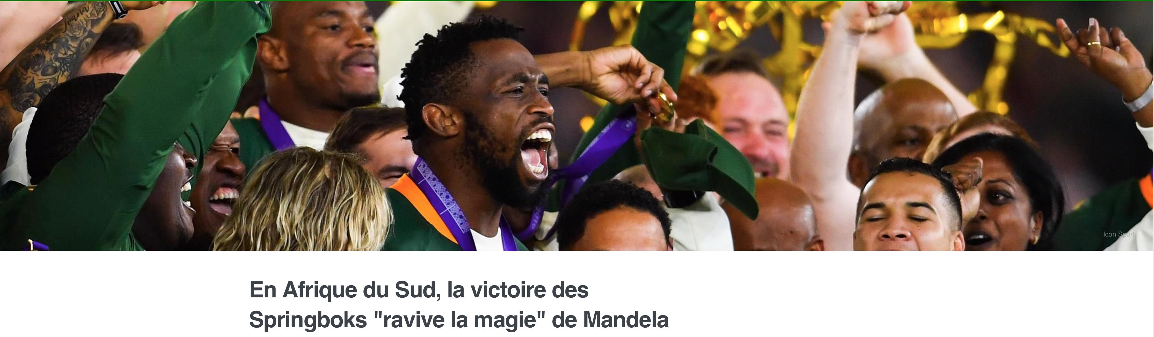 Afrique du sud : les journaleux de Rugbyrama obnubilés par la couleur de peau ne commentent pas le match