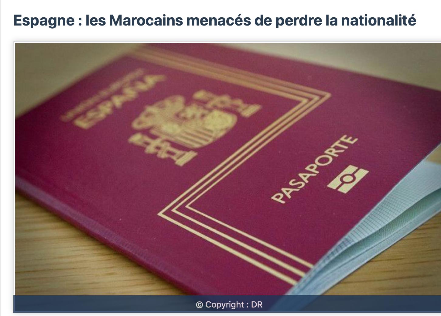 Machine arrière pour les Catalans qui préféraient l'islam à Madrid ! Sus à la nationalité marocaine !