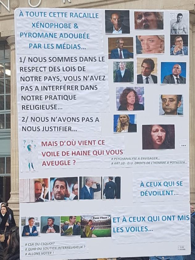 Manif de la honte en direct :  «Zemmour à la mer !», «Allah Akbar !» en plein Paris …