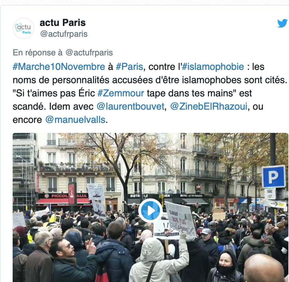 Ils manifestent pour demander qu'on les aime tout en criant leur haine pour Zemmour, Zineb, Bouvet…